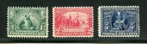 UNITED STATES SCOTT#328/30 JAMESTOWN F/VF SET MINT NEVER HINGED ORIGINAL GUM