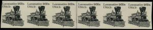 #1897a LOCOMOTIVE PL# STR/6 W/ JOINT LINE PAIR OG NH IMPERF MAJOR ERROR HV5700