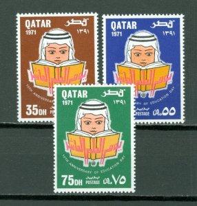 QATAR SCARCE EDUCATION 1971  #256-258...SET...MNH...$12.00