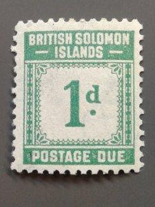 Solomon Islands J1 F-VF MLH.  Scott $ 4.50