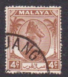 Malaya-Selangor   #83  used  (1949)  c.v. $0.35