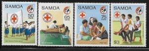SAMOA, 756-759, MNH, RED CROSS SOCIETY