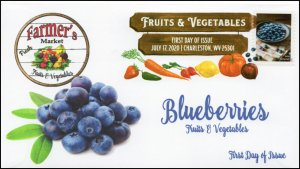 20-167, 2020, SC 5488, Fruits & Vegetables, FDC, Digital Color Postmark,