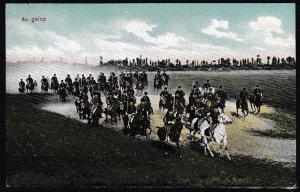 Belgium - Military - Postcard - Military uniform - GALLOPING