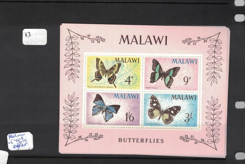 Malawi Butterfly SC 40a One Sheetlet MNH (12dpq)