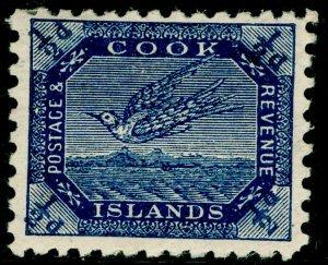 COOK ISLANDS SG11ba, ½d steel blue, M MINT.