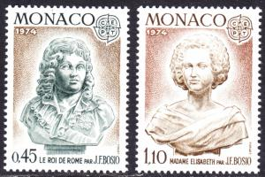 Monaco Scott 903-904  complete set  VF mint OG NH.
