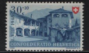 SWITZERLAND B177, NO GUM, 1948 House of Ticino