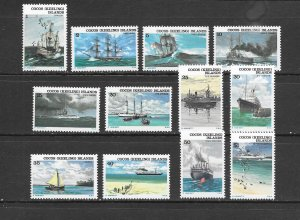 SHIPS - COCOS ISLANDS #20-31 MNH
