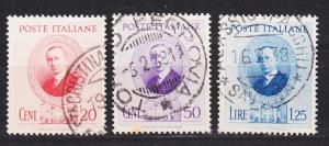 ITALIEN ITALY [1937] MiNr 0604-13 ( O/used )