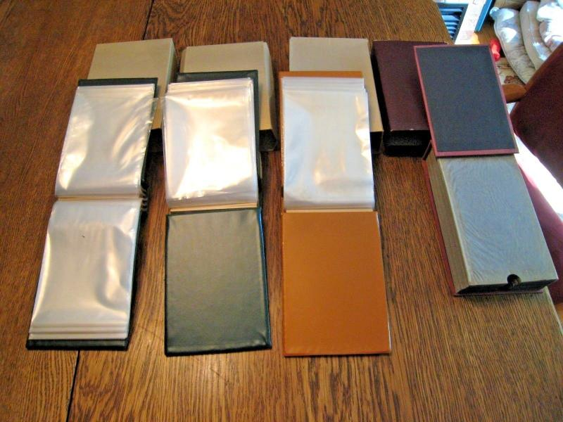 LOT OF 4 STAMP COVER ALBUMS
