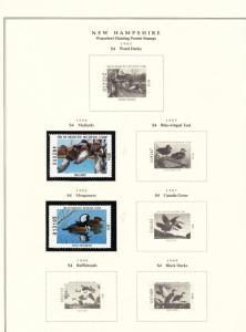 STATE OF N. HAMPSHIRE HUNTING PERMIT STAMPS 1984 // 2004 ON (3) PAGES BT6439