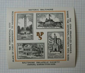 1938 BPS Star Spangled Banner Natl Anthem Was Born Philatelic Souvenir Ad