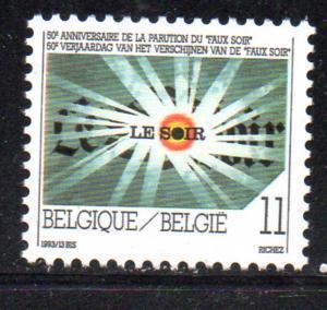 Belgium Sc 1509 1993 Faux Soir 50 years stamp mint NH