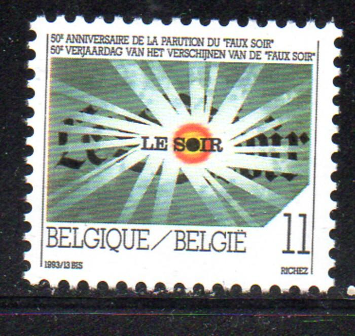 Belgium Sc 1509 1993 Faux Soir 50 years stamp mint NH
