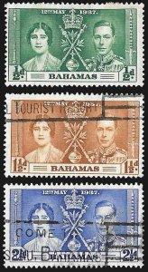Bahamas SC 97-99 * George VI Coronation * Used * 1937