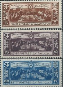 Egypt 203-205 (mh full set of 3) Anglo-Egyptian Treaty (1936)