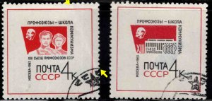 Russia Scott 2800-2801 Used Faulty set crease o one, thin on the other