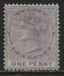 Lagos 1876 1d lilac unused no gum