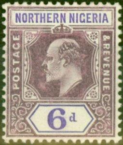 Northern Nigeria 1906 6d Dull Purple & Violet SG25b Chalk Fine Lightly Mtd Mint
