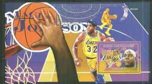 Guinea MNH S/S Magic Johnson Basketball #2 2009