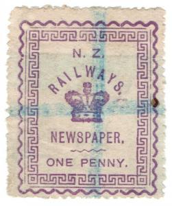 (I.B) New Zealand Railways : Newspaper Stamp 1d