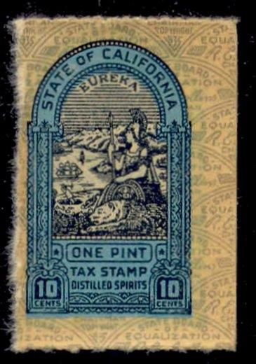 California State Revenue Stamp 10c Liquor Tax # L17