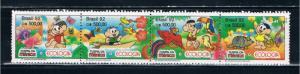 Brazil 2373a MNH strip of 4 Ecology Cartoons (B0370)