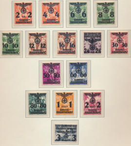 Poland, German Occupation Stamps Scott #N30 To N55, Mint Lightly Hinged - Fre...