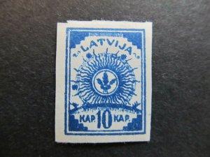 A4P25F5 Latvia Lettonia Lettland 1919 Unwmk 10k Pelure Paper mh*