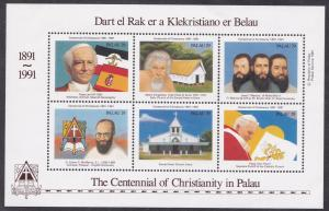 Palau # 288, Christianity in Palau Centenary, Souvenir Sheet, NH 1/2 Cat.