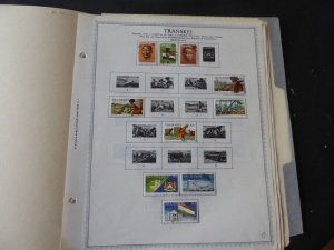 Transkei 1976-1985 Stamp Collection on Album Pages