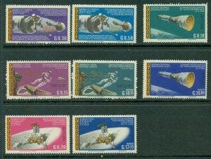 Paraguay space 1966 Mi-1618/1625 Gemini 8, 9, 10