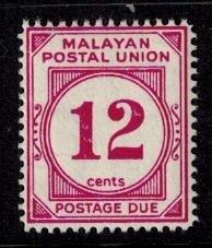 Malayan Postal Union J26 MNH Fine+ bright