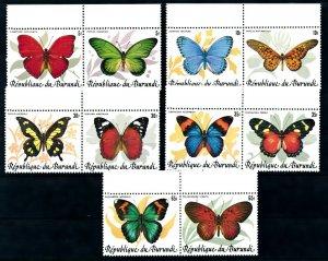 [I1863] Burundi 1984 Butterflies good set of stamps very fine MNH $425
