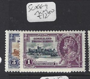 SOMALILAND  (P1310B)  KGV SILVER JUBILEE SG 88-9   MOG