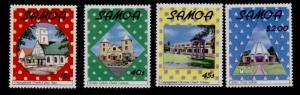 Samoa 747-50 MNH Christmas, Church