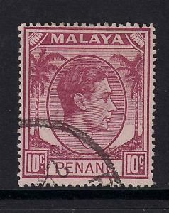 Malaya Penang 1949 - 52 10ct Purple Used SG 11 ( 533 )