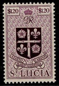 ST. LUCIA GVI SG158, $1.20 purple, M MINT.