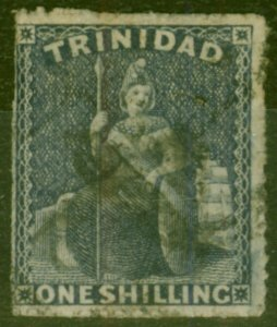 Trinidad 1861 1s Indigo SG58 Good Used