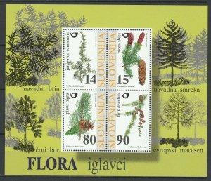 Slovenia 1998 Trees MNH Block