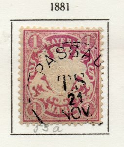 Bayern Bavaria 1881 Early Issue Fine Used 1M. NW-120724