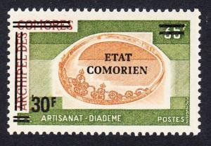 Comoro Is. Overprint 'Etat Comorien' 30 Fr on 35 Fr Diadem SC#142 MI#221