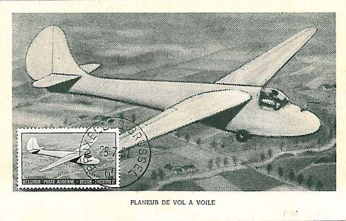 AIRPLANES AEROPLANE - MAXIMUM CARD: BELGIUM 1951
