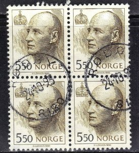 NORWAY SC# 1011 *USED* 5.50k  1992-2002  KING HARALD BK of 4            SEE SCAN