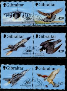 GIBRALTAR Sc#809-814, 811a, 814a 1999 Fighter Planes Complete Set & 2 S/S Used