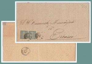 5382  - ITALIA REGNO - Storia Postale: MANIFESTO da BRESCIA a ERBUSCO 1869