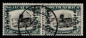 SOUTH AFRICA GVI SG O28, 5s black & blue-green, FINE USED. Cat £140. CDS