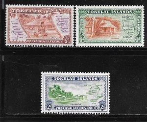 Tokelau 1-3: Island Scenes, MNH, VF