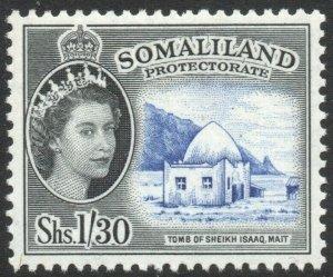 SOMALILAND-1958 1/30 Ultramarine & Black Sg 145 UNMOUNTED MINT V42916